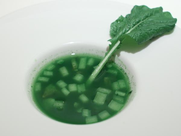 スーパー小松菜とサザエのスープ