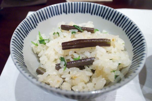 蕗と油あげの炊き込みご飯