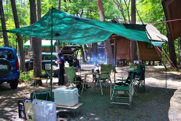 燻製キャンプ 白州4