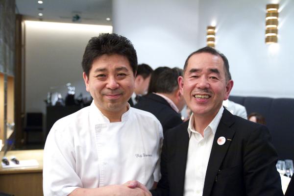 山本益博氏と下村シェフ