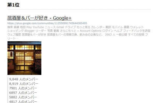 Google+コミュニティ メンバー数ランキング第1位